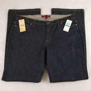 IZOD Jeans Size 16 W37 L32 Favorite Flare Raw Wash